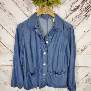 French Laundry Tencel Buttoned Down Shirt L